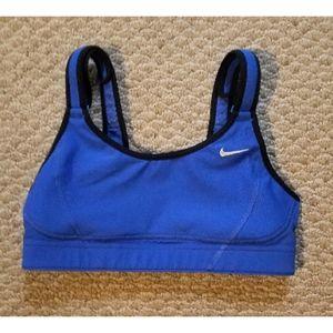 Nike Swift Dri fit blue sports bra
